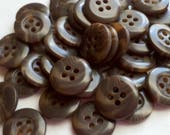 """SEE SHOP ANNOUNCEMENT for 60% Off Coupon Code - Brown Multi Colored Bulk Buttons - 9/16"""" (15mm) - You Pick Quantity - 50 - 200"""
