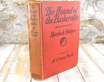 Antique Book of The Hound of the Baskervilles: Another Adventure of Sherlock Holmes by A. Conan Doyle from 1902