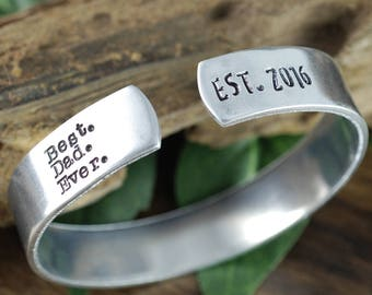 Personalized Mens Bracelet, Best Dad Ever Gift, Fathers Bracelet, Gift for Dad, Fathers Day Gift, Personalized Daddy Bracelets,Mens Bracelet