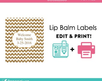 Declarative image in printable lip balm label template