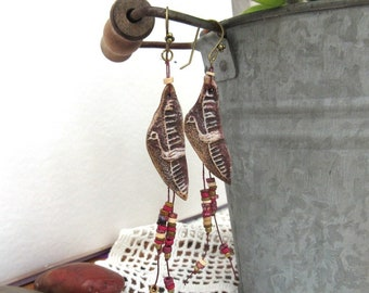 Enchanted Ritornelles : Earrings of Native American style