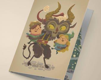 Krampus Holiday Card