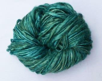 Handspun Handdyed 100% Bamboo Yarn *Turquoise*