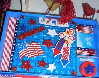 USA Blessed By An Angel  Collage The  Red White and Blue WE Need Angel Protectio Now More Than Ever