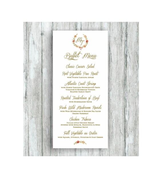 menu for weddings place setting menu wedding menus custom