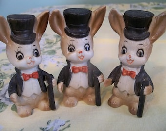 the triplet trio dancing  bunnies  on Broadway for a really big show