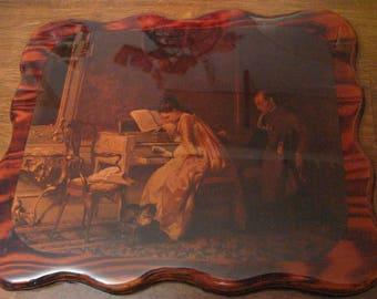 antique picture under lacquer  art on wood  kimber kraft ltd.