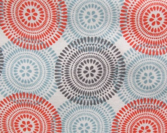 cotton flannel fabric geometric circles 1 yard