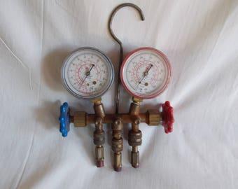 Vintage Hardware Faucet Handles And Two Gauges For Hardware Crafts