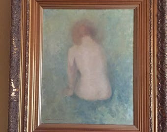 Nan Greacen oil on canvas of Nude