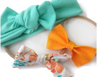June Bow Subscription- Set of 3 Headbands or Hair Clips
