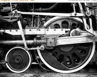 SUMMER SALE-Ends July 5- Locomotive Photo Train Vintage Photo Engine Photography Black White For Guys Man Cave Gift For Men Masculine #vin2