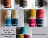 5mm Deerskin, By the yard, Deerskin, Deer Skin, Lace, Leather Lace, Lace, Leather, 5mm lace, 5mm leather