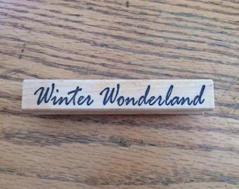 Stamp for Scrapbooking or Card Making- Winter Wonderland-Rubber Stamp