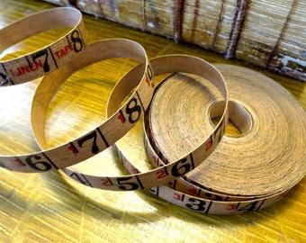Vintage linen tape measure, 4 yards of measuring tape, measurement tape, tape measure, 4 yards, vintage linen tape, Rustic measuring tape MT