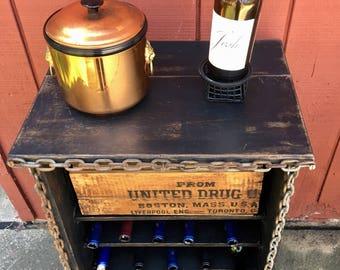 Rustic Vintage Wine Cabinet!