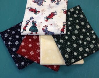 Winter Snowflake Fun Fabric