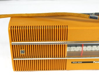 Panasonic AM/FM Radio Working  Mustard Color Circa 1973