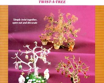 Twist a Tree Easter Eggs Apple Tree Potpourri Tree Winder Wonderland Tree Tree House Oriental Tree Craft Pattern Leaflet