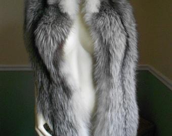 Fox Fur Stole Wrap / Fox Shawl / Fox Stole