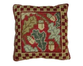Cleopatras Needle Mini Tapestry  Sampler Kit, OAK WS01, oak leaves needlepoint kit, autumnal sampler, fall, leaves