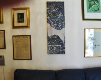 "marbled canvas, ready to hang,  tela màrmolada, tela  marmorizzata - 0,8 x 1,16"" x  39,8""  inches -  cm 1,6 x  30 x cm 100  -    945"