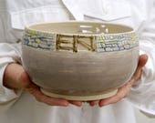 Country fences bowl - fruit bowl glazed in simply clay