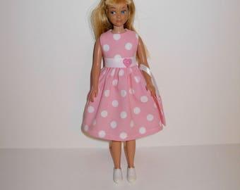 Cute dress for barbies' sister skipper ( vintage & modern dolls ) Handmade barbie clothes