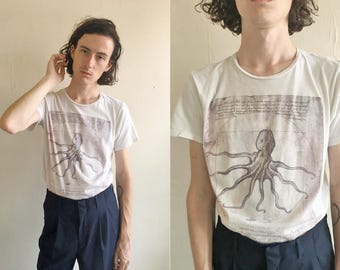 Octopus Short Sleeve T-Shirt Sz M