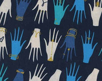 SALE - Cotton + Steel - Beauty Shop Collection - Manicure in Navy