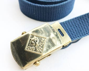 Vintage Cub Scout Belt with Brass Buckle (Large)