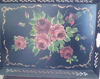 Toile Tray Floral Tray