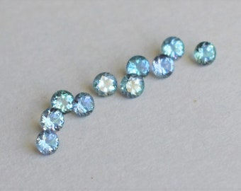 Kornerupine Rounds, Tanzanian Kornerupine,  3.5mm round Kornerupine, Kornerupine Gems, Tanzanian Gems, Blue Green Gems