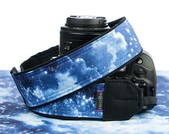 dSLR Camera Strap, Heavenly Stars, Blue, SLR, Pocket, Galaxy, Canon strap, Nikon strap, Neck strap,  305