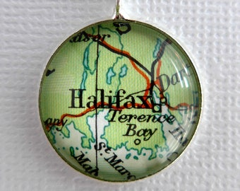 Bridesmaids Gift Idea, Bronze Pendant, Personalized Maps, Wedding Jewellery, Bride Gift Idea, Customised Map Jewellery