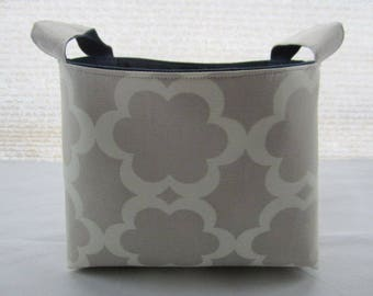 Fabric Organizer Basket Container Grey  Garden Tarika Moss Bin Caddy Storage -