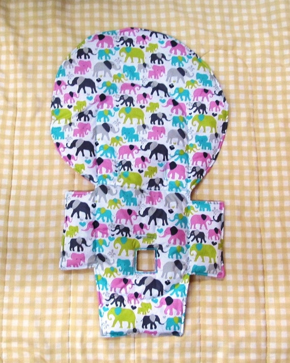 Elephants Evenflo Padded High Chair Cover Highchair