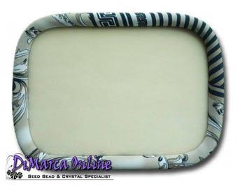 "Oblong 30x23 cm Beading Tray Silaba ""Mink Swirls"""