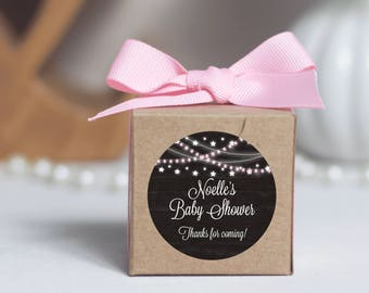 12 Baby Shower Boxes - Baby Shower Favors - Custom Shower Favors - Personalized Shower Favors - Kraft Favor Box - Rustic Favors - 2x2 Boxes