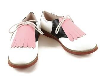 Pink Kilties for Womens Golf Shoes, Golf Kilties, Perfect Gift for Mom, 1950s Fashion, Golf Shoe Kilties, Golf Gifts, Swing Dance Sock Hop