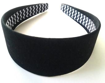 Black Headband 2 Inch