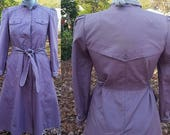 reserved for dizzypopple Womens Coat, Vintage Trench Coat, Vintage Coat, Trench Coat, 70s Coat, Purple Coat, Vintage Costume, J. Gallery,