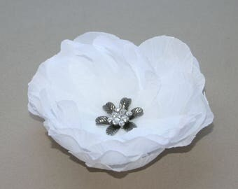 Embellished White Peony -  Silk Flowers, Artificial Flower - BUDGET BRIDAL