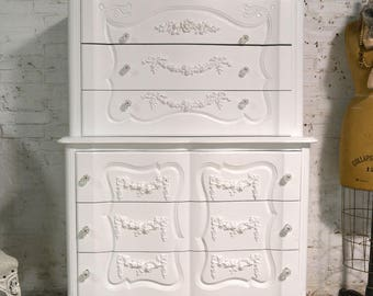 Painted Cottage Chic Shabby French Dresser/ Chest