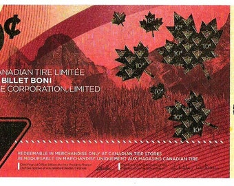 CANADA 150 ANNIVERSARY NOTE Canadian Tire releases limited edition Canada 150 10-cent bill Unc