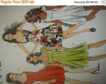 Summer Designer Dresses--Multi Sizes 6-12 UNCUT Pattern  HARD Find--40-70% off Patterns n Books SALE