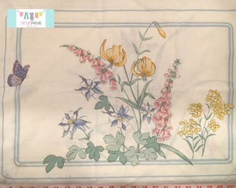 Vintage Pillowcase with Placed Floral