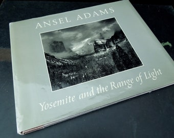 Vintage Ansel Adams Coffee Table Book - Yosemite and The Range of Light Black White Photographic Art Book - Gift Nature Lover
