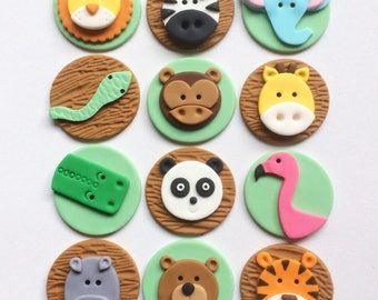 how to make jungle animals out of fondant