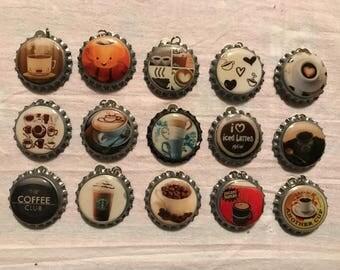 """Bottle caps """"Coffee"""""""